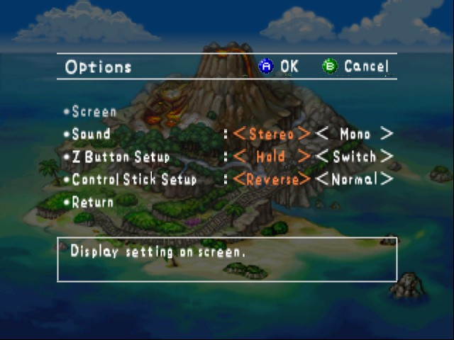Pokemon Snap - Mode Select  - options  - User Screenshot